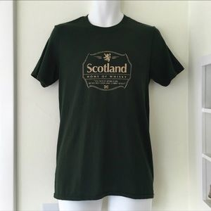 Tee: Scotland Whisky quote dark forest green